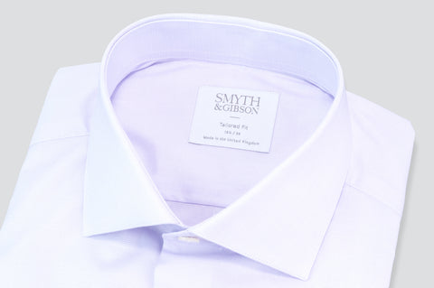 Smyth & Gibson Subtle Prince of Wales Tailored Fit Shirt in Lilac - Smyth & Gibson Shirts