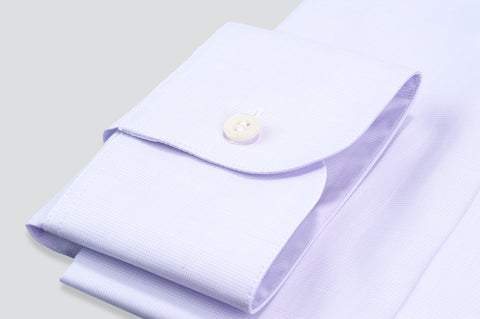 Smyth & Gibson Subtle Prince of Wales Tailored Fit Shirt in Lilac