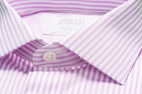 Smyth & Gibson Bengal Stripe Shirt in Violet