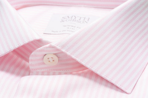 Smyth & Gibson Bengal Stripe Shirt in Pale Rose