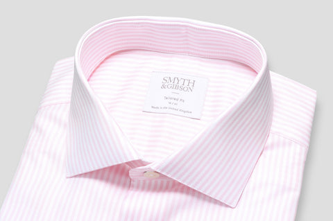Smyth & Gibson Oxford Bengal Stripe Shirt in Pale Rose - Smyth & Gibson Shirts