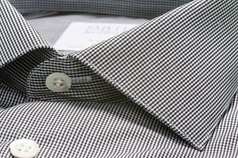Smyth & Gibson Fine Shepherds Check Shirt in Black & White