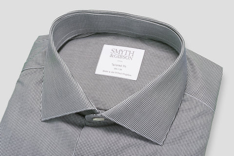 Smyth & Gibson Fine Shepherds Check Shirt in Black & White - Smyth & Gibson Shirts