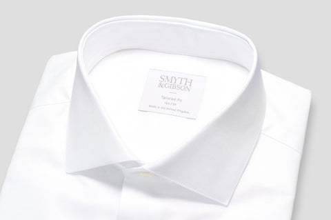 Smyth & Gibson Pinpoint Oxford Shirt in White - Smyth & Gibson Shirts