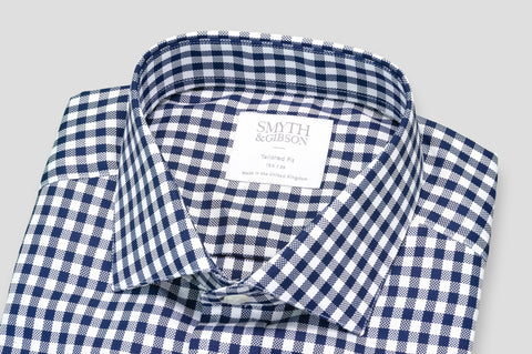 Smyth & Gibson Royal Oxford Tailored Fit Shirt in Navy