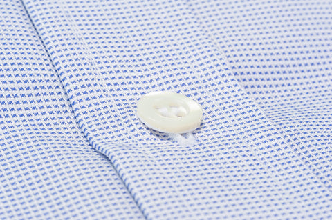 Smyth & Gibson Dash Texture Shirt in Blue