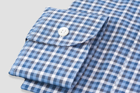 Smyth & Gibson Multi Check Button Down Shirt in Blue & Navy