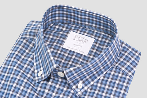 Smyth & Gibson Multi Check Button Down Shirt in Blue & Navy - Smyth & Gibson Shirts