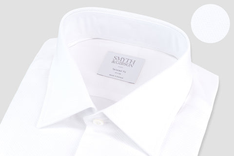 Smyth & Gibson Marcella Classic Dinner Tailored Fit Shirt In White - Smyth & Gibson Shirts