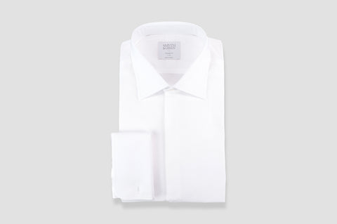 Smyth & Gibson Marcella Classic Dinner Tailored Fit Shirt In White