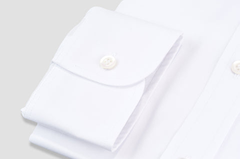 Smyth & Gibson Plain Twill Classic Collar Tailored Fit Shirt in White