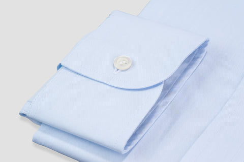 Smyth & Gibson Plain Twill Classic Collar Tailored Fit Shirt In Sky Blue