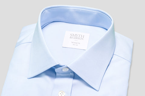 Smyth & Gibson Royale Twill Tailored Fit Shirt in Sky Blue - Smyth & Gibson Shirts