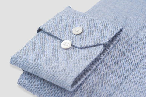 Smyth & Gibson Textured Brushed Cotton Tailored Fit Shirt in Sky Blue