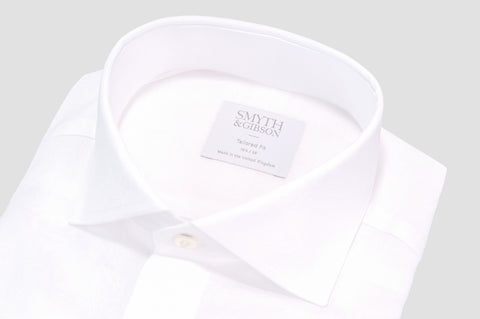Smyth & Gibson Floral Jacquard Tailored Fit Shirt in White - Smyth & Gibson Shirts