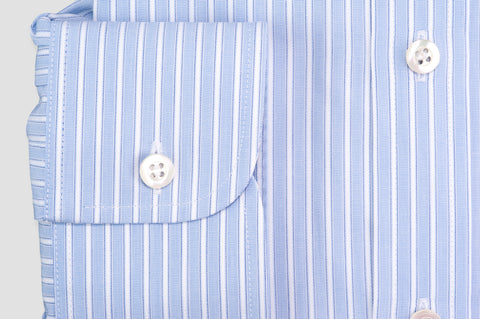 Smyth and Gibson Winchester Wide Stripe Tailored Fit Shirt in Blue