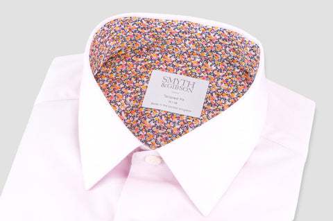 Smyth & Gibson Liberty Print Floral Contrast Tailored Fit Shirt in Pink - Smyth & Gibson Shirts