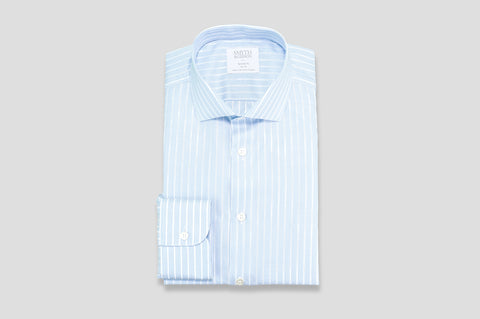 Smyth & Gibson Woven Jacquard Stripe Shirt in Blue