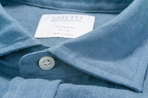 Smyth & Gibson 100% Irish Linen Shirt in Picasso Blue