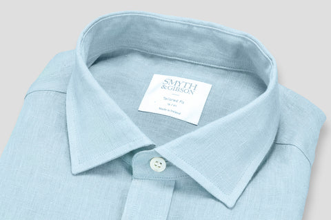 Smyth & Gibson 100% Irish Linen Shirt in Sky Blue - Smyth & Gibson Shirts