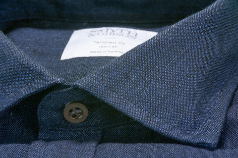 Smyth & Gibson 100% Luxury Irish Linen Shirt in Navy