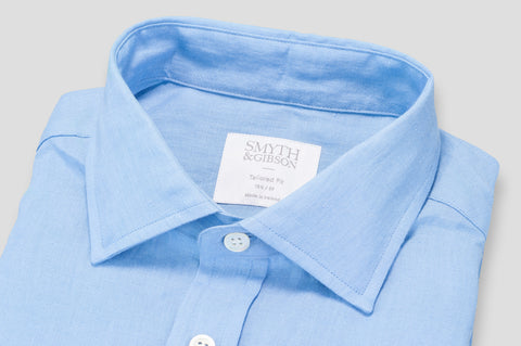 Smyth & Gibson 100% Luxury Irish Linen Shirt in Ultra Blue - Smyth & Gibson Shirts
