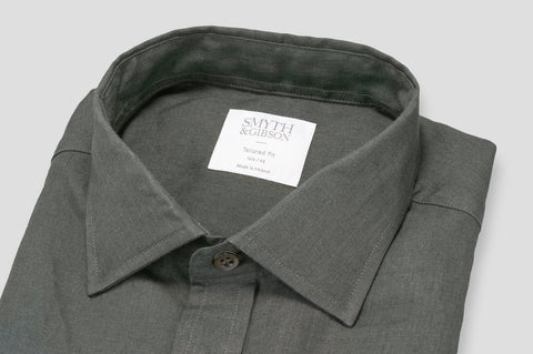 Smyth & Gibson 100% Luxury Irish Linen Shirt in Slate - Smyth & Gibson Shirts