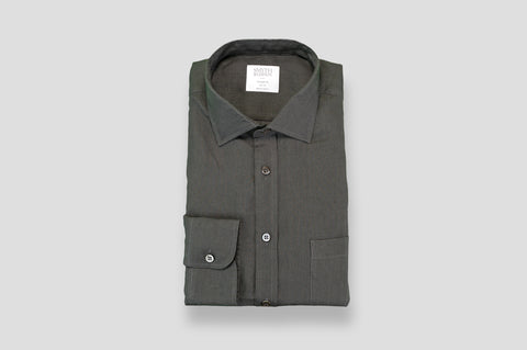 Smyth & Gibson 100% Luxury Irish Linen Shirt in Slate