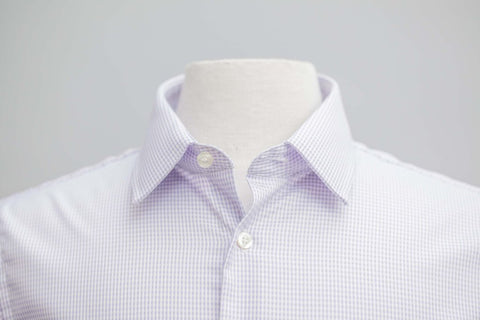 Smyth & Gibson S.W.E. Non Iron Twisted Gingham Contemporary Fit Shirt in Lilac - Smyth & Gibson Shirts