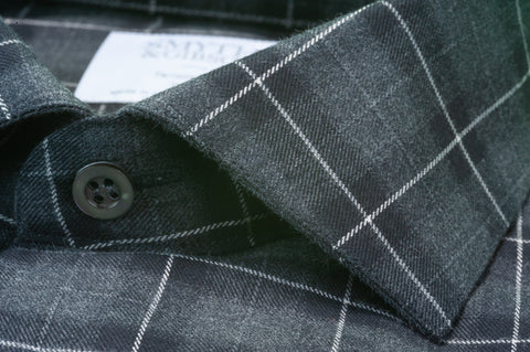Smyth & Gibson Brushed Cotton Plaid Check in Black & Grey