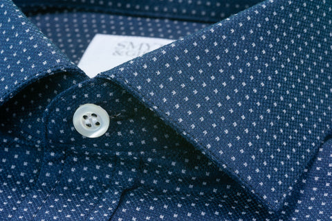 Smyth & Gibson Heavy Texture Micro Arrow Print in Navy