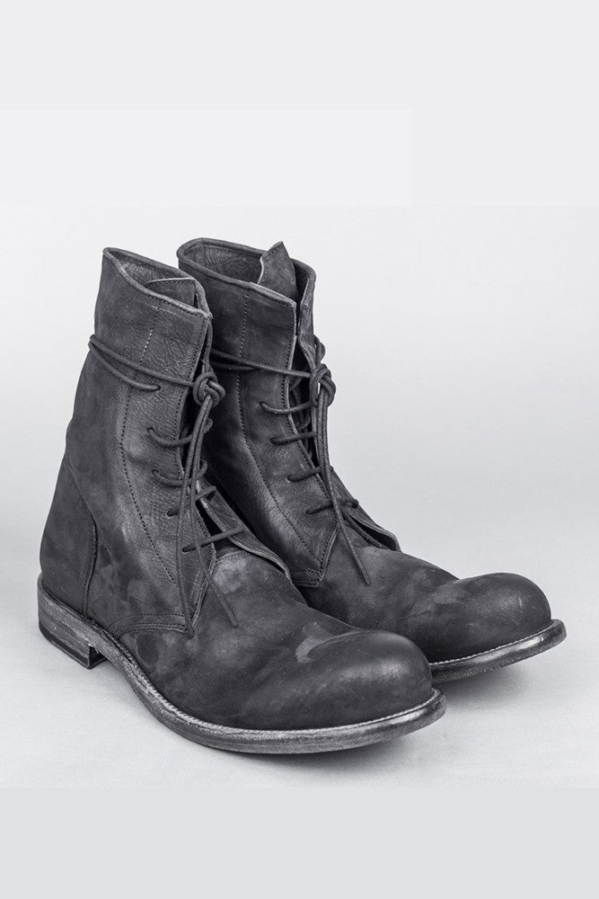 Ankle high lace-up boots