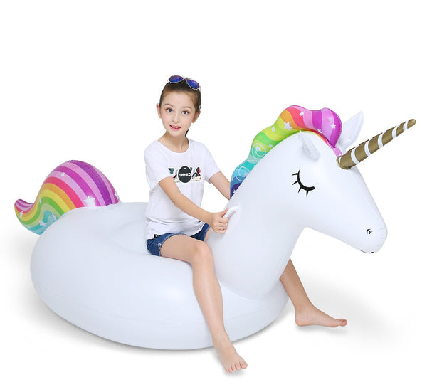Inflatable Unicorn Pool Float Floatie Adult 114''