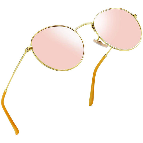 Vintage Round John Lennon Sunglasses for Women Retro Brand Polarized Sun Glasses Pink