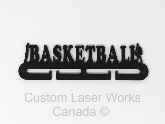 Medal Hanger - Basketball Black / 280Mm X 80Mm 6Mm Display