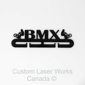 Medal Hanger - Bmx Black / 280Mm X 80Mm 6Mm Display