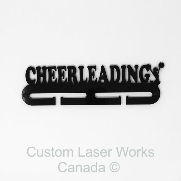 Medal Hanger - Cheerleading Black / 280Mm X 80Mm 6Mm Display