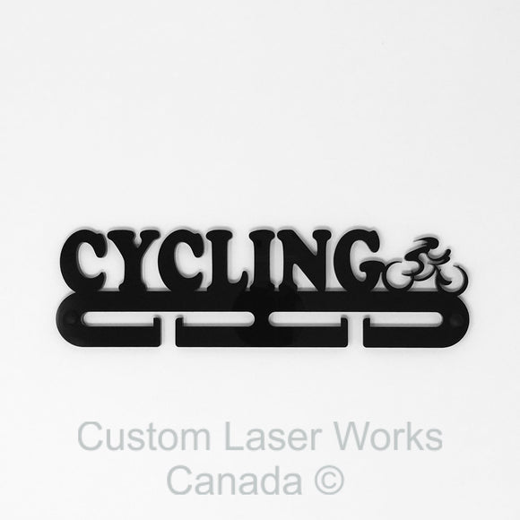 Medal Hanger - Cycling Black / 280Mm X 80Mm 6Mm Display