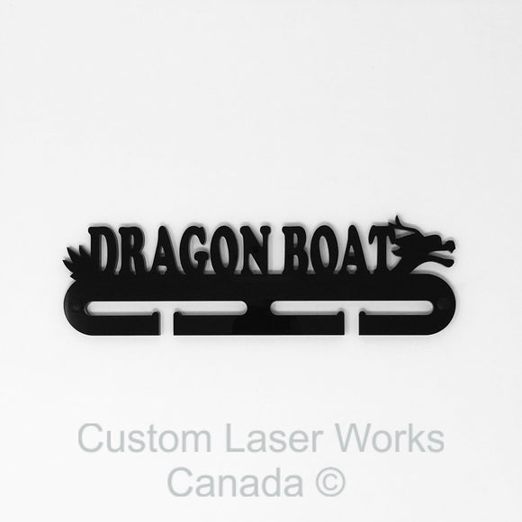 Medal Hanger - Dragon Boat Black / 280Mm X 80Mm 6Mm Display