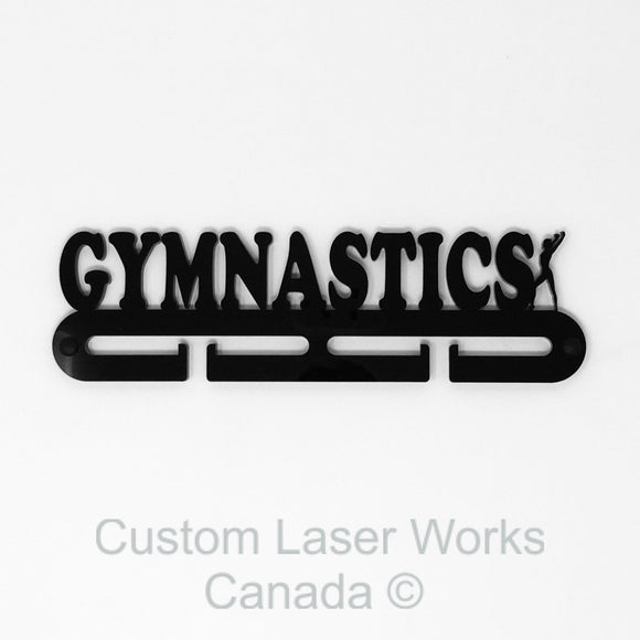Medal Hanger - Gymnastics - Female Black / 280Mm X 80Mm 6Mm Display