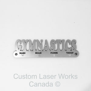 Medal Hanger - Gymnastics - Ribbon Black / 280Mm X 80Mm 6Mm Display