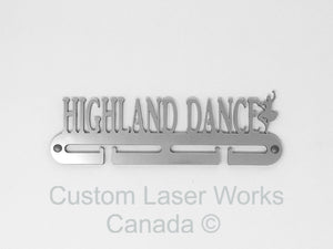 Medal Hanger - Highland Dance Black / 280Mm X 80Mm 6Mm Display
