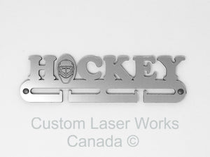 Medal Hanger - Hockey Mask Black / 280Mm X 80Mm 6Mm 250 Display