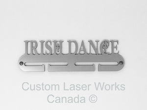 Medal Hanger - Irish Dance Black / 280Mm X 80Mm 6Mm Display