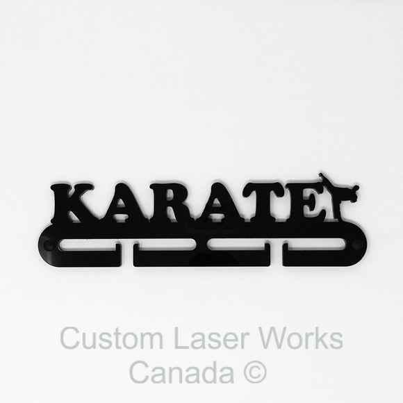Medal Hanger - Karate Black / 280Mm X 80Mm 6Mm Display
