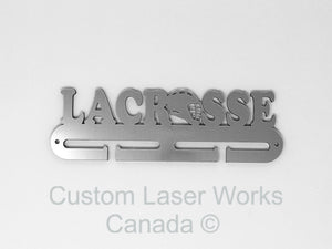 Medal Hanger - Lacrosse Black / 270Mm X 80Mm 6Mm Display