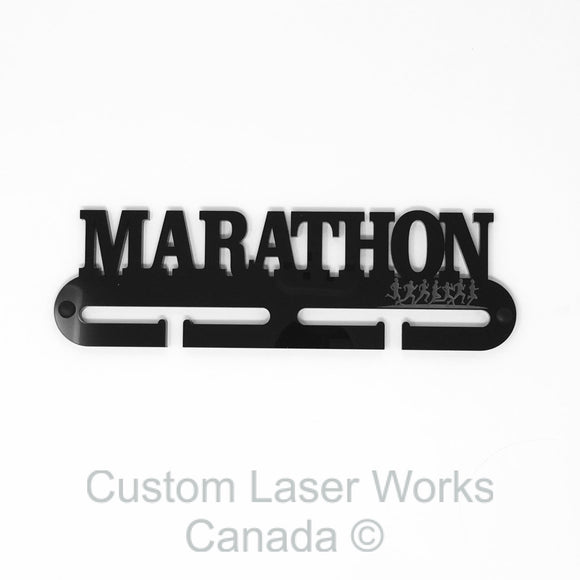 Medal Hanger - Marathon Black / 280Mm X 80Mm 6Mm Display