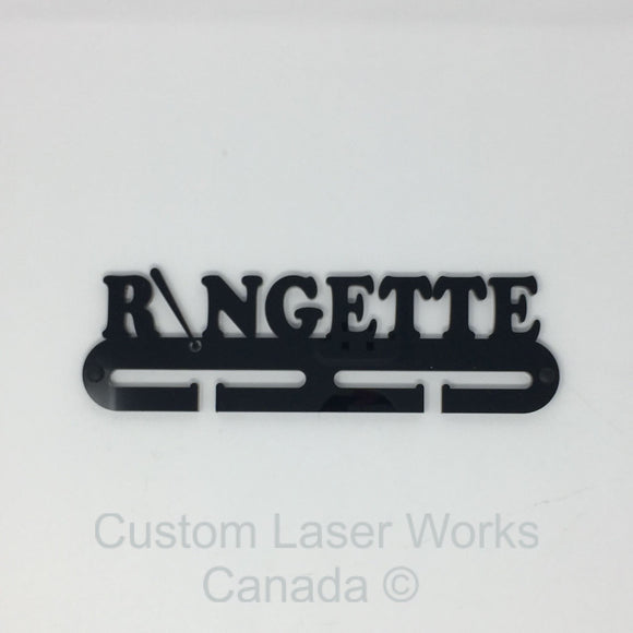 Medal Hanger - Ringette Black / 280Mm X 80Mm 6Mm Display