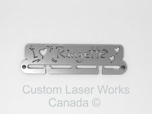 Medal Hanger - Ringette I Love Black / 280Mm X 80Mm 6Mm Display