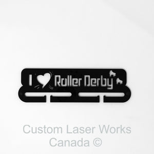 Medal Hanger - Rollerderby Black / 280Mm X 80Mm 6Mm Display